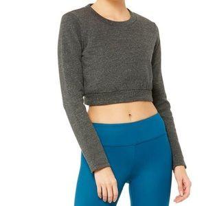 Alo Yoga Elite Long Sleeve Top - Charcoal Heather